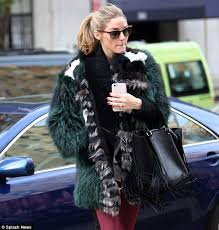 furry nice olivia palermo cemented her style queen status as she wrapped up in an