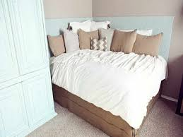 Saving Small Bedroom Spaces With DIY Corner Bed With Custom Headboard Ideas