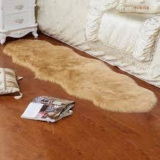 Amazoncom Dailyfun Faux Lammfell Teppich Einfache Plüsch Teppich