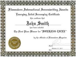 Superlative Certificate First Place Award Certificate Certificate First Place Award