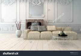 Light Colored Living Rooms Classical Light Colored Living Room Interior With Decorative