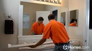 Bathroom Mirror Frame Homescom Diy Experts Share How To Frame A Builder Grade Mirror