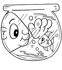Small Picture fish bowl coloring pages Printable Coloring Sheet Anbu Clip