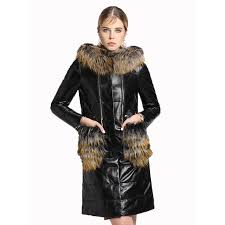genuine leather jacket real fur coat autumn winter jacket women clothes 2018 korean sheepskin coat duck down wool