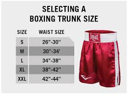 Boxing Glove Size Chart Size Charts