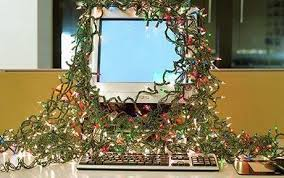 the office christmas ornament. Modren Ornament Computer Monitor And Keyboard Decorated With Lights Christmas Office  Shutting Office Over Is To The Office Ornament