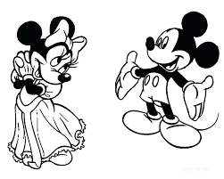 Minnie Mouse Coloring Pages Happy Birthday Mickey And Mouse Coloring