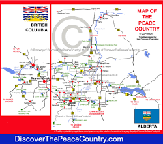 Alberta Distance Chart Map Of The Peace Country Northern Alberta British