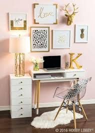 Home Office Blush Pink Gold And White Bedroom Ideas Pinterest ...
