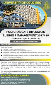 postgraduate diploma in business management university  categories