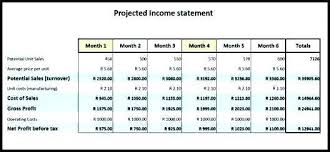 Free Printable Profit And Loss Statement Classy Revenue Projection Template Excel Business Plan Projections Profit