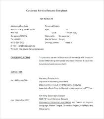 Customer Service Resume Samples Free Free Download Call Center