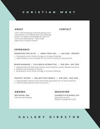 Resume Modern Te Turquoise Modern Minimalist Resume Templates By Canva