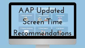 Screen Time Recommendations By Age Chart Aap Changes Screen Time Recommendations Lexercise