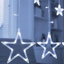 Led Lichterkette Stern Lichtervorhang Fenster Baum Real