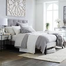 grey upholstered bed king. Bed Cute Grey Upholstered King 30 Narrow Leg Frame Dove Gray C