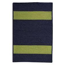 navy green indoor outdoor braided