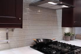 modern kitchen backsplash glass tile. Beautiful Backsplash Light Taupe Linear Glass Mosaic Tile Backsplash Modernkitchen Intended Modern Kitchen