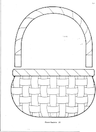 Easter Preschool Basket Cut Out