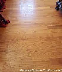 rug left rubber or latex residue stuck to hardwood flooring