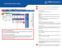 How To Buy And Sell Stocks Online Using Col Financial The