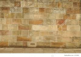 texture old brick wall brown and yellow big bricks belongs to historic building