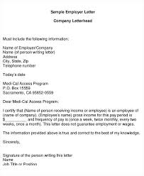 Proof Of Employment Letter Sample Proof Of Income Letter Sample