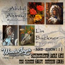 Abdul Ahmad and Lin Buckner Art Show — WanderLinger Brewing Company