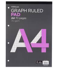 Whsmith A4 Graph Ruled Refill Pad