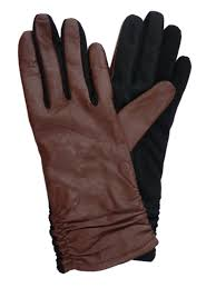 touchpoint touchpoint womens ruched brown leather tech text smart gloves com