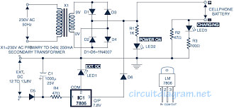 simple mobile phone battery charger schematic design