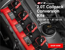 ecs tuning b6 a4 1 8t ecs 2 0t coil pack conversion kit  at 2006 Audi A4 1 8 T Cabriolet Coil Pack Wiring Harness