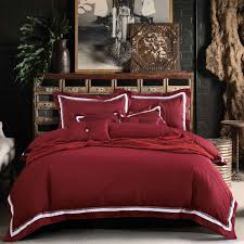 33 gorgeous claret bedding 100 cotton 4pc wine red set queen size duvet cover king burdy housse de couette euro double blanket in sets from home