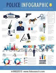 Justice Stock Chart Police Infographic For Crime Law Justice Design Clipart