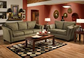 Microfiber Living Room Set Olive Microfiber Modern Casual Sofa Loveseat Set W Wooden Legs