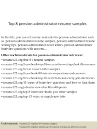Retirement Plan Administrator Sample Resume