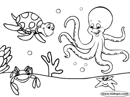 Small Picture Sea Coloring Page Free Printable Pictures Of Creatures Ideas Sea