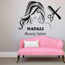 hair salon wall decor awesome custom name wall decals beauty hair salon decor logo lettering