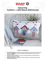 Gunold Machine Embroidery Designs Cushion Little Beach Bathhouses_preview By Sulky By Gunold