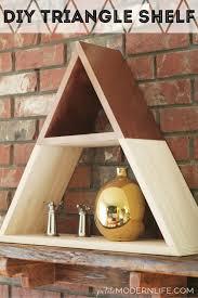 diy triangle shelf petite modern life