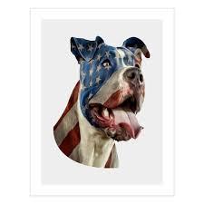 I Love My Pitbull Flag American Tattoo Shirt