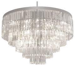 odeon crystal fringe 5 tier chandelier justina light
