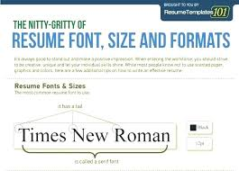 Good Modern Resume Fonts Best Font And Size For Resume Blaisewashere Com
