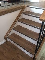 kubik residence vinyl planks lvp rustic staircase calgary