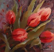 tulips painting red tulips print by patti trostle