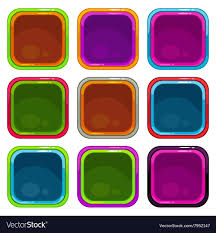 rounded square app icon frames vector image