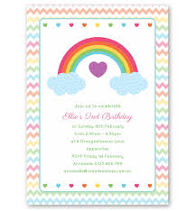 Birthday Invatations Rainbow Birthday Invitation