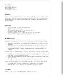 Venture Capital Intern Resume