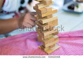 Game Played With Wooden Blocks People Playing Wood Blocks Stack Game Stock Photo 100 94
