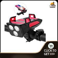 FIKI <b>4 IN 1 Multifunctional</b> Bike Light Bicycle Horn Lamp with <b>Mobile</b> ...